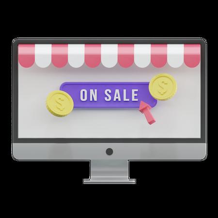 Online Sale 3D Illustration