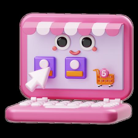 Online Shop 3D Illustration