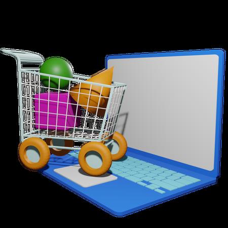 Online Shopping 3D Illustration