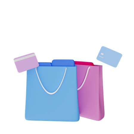 Online Shopping Payment 3D Illustration