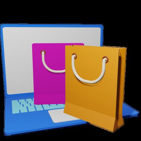 Online Shopping Sale 3D Illustration