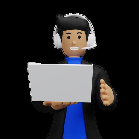 Online Tech Support 3D Illustration