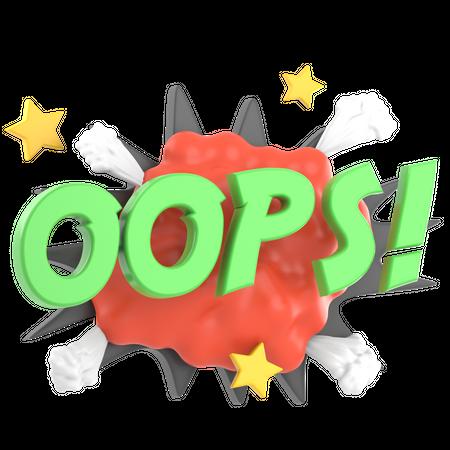 OOPS 3D Illustration