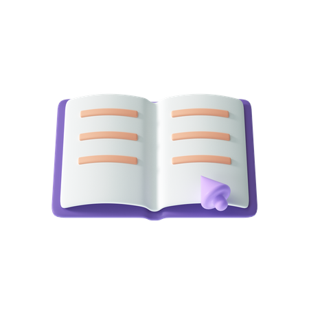 Open Book 3D Illustration