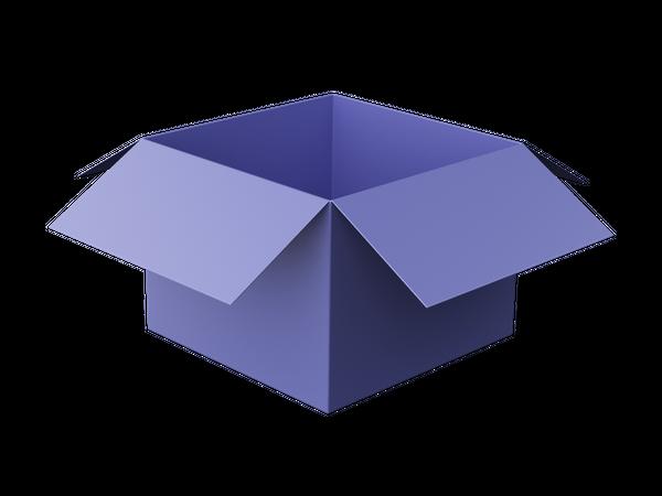 Open Box 3D Illustration