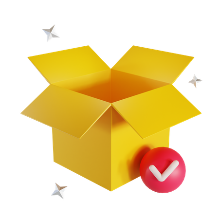 Open Delivery Box 3D Illustration