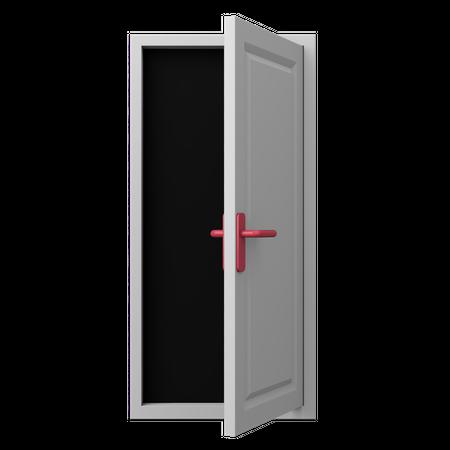 Open Door 3D Illustration