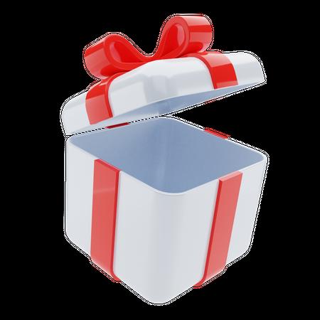 Open Gift Box 3D Illustration