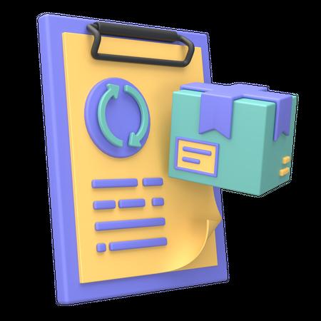 Order Processing 3D Illustration