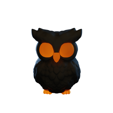 Owl 3D Illustration