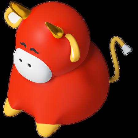 Ox 3D Illustration