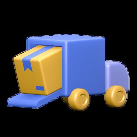 Package Delivered 3D Illustration