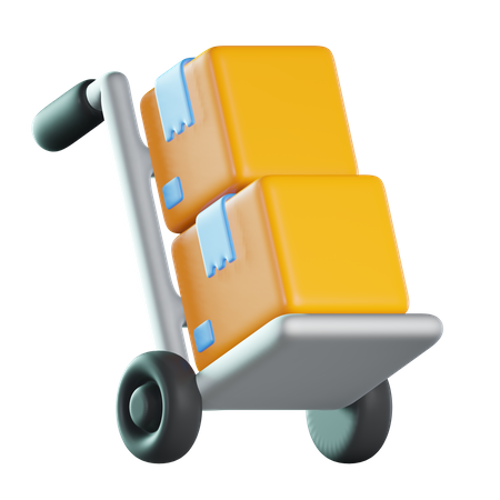 Package Dolly 3D Illustration