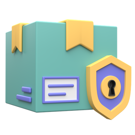 Package Protection 3D Illustration