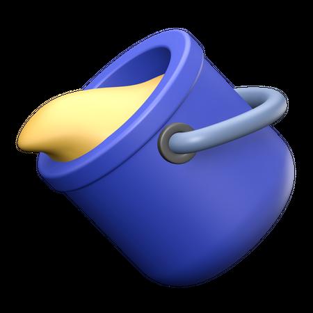 Paint bucket 3D Illustration