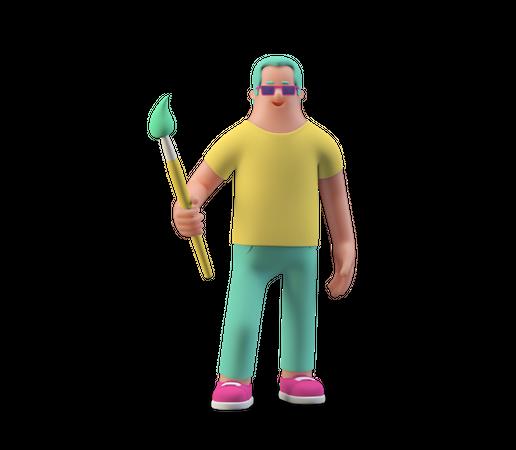 Painter 3D Illustration