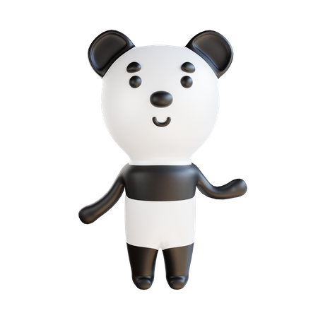 Panda 3D Illustration