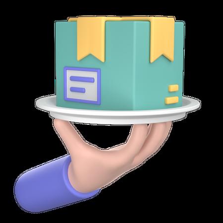 Parcel Delivery 3D Illustration