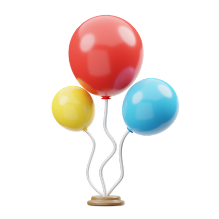 Party Balloons 3D Illustration