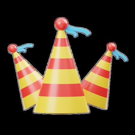 Party Hat 3D Illustration