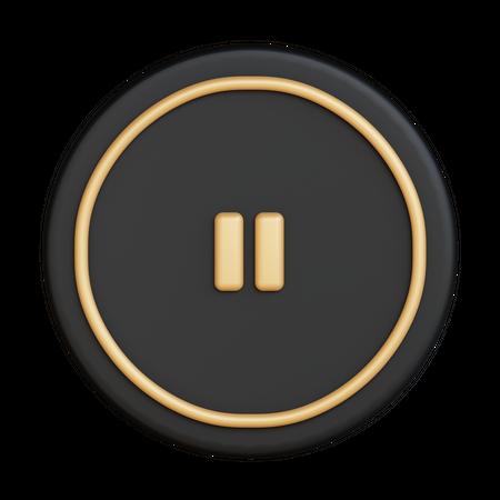 Pause Button 3D Illustration