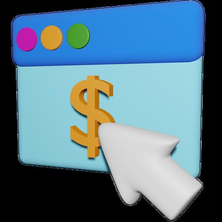 Pay Per Click 3D Illustration