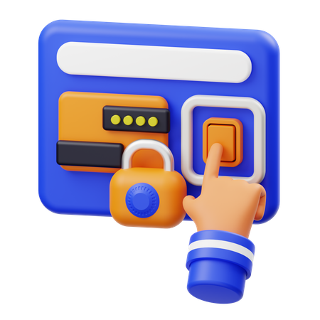 Payment Protection 3D Illustration