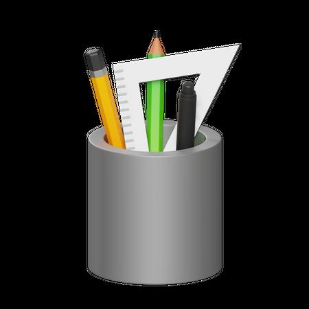Pen Holder 3D Illustration