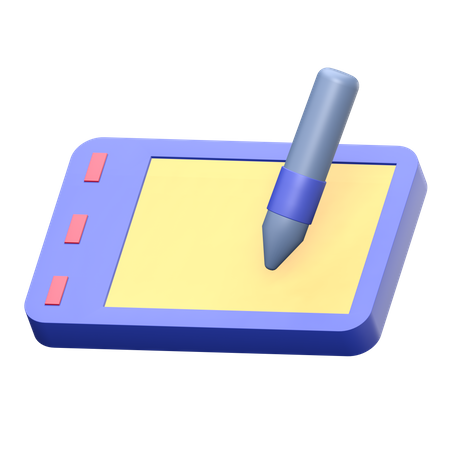 Pen tablet 3D Illustration