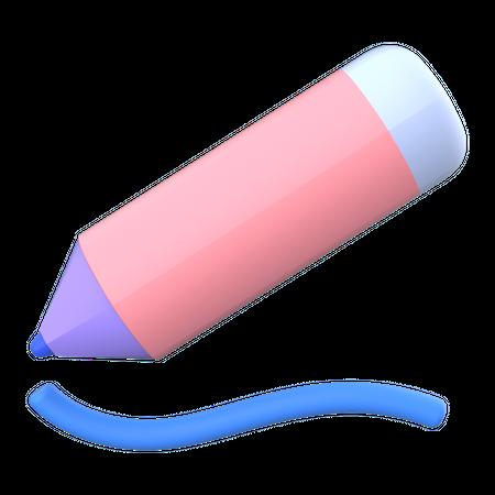 Pencil 3D Illustration