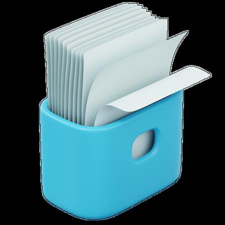 Paper Box 3D Illustration