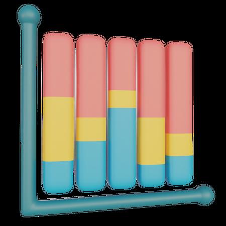 Performance Chart 3D Illustration