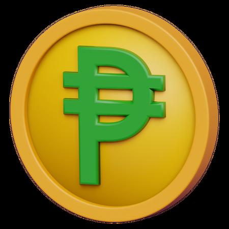 Peso Coin 3D Illustration