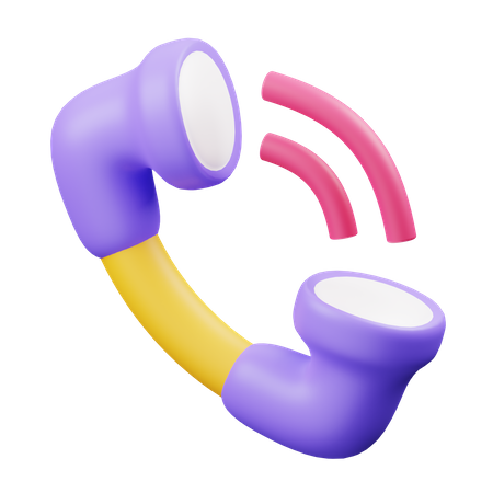 Phone Call 3D Illustration
