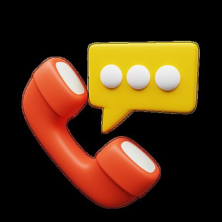 Phone Talk 3D Illustration