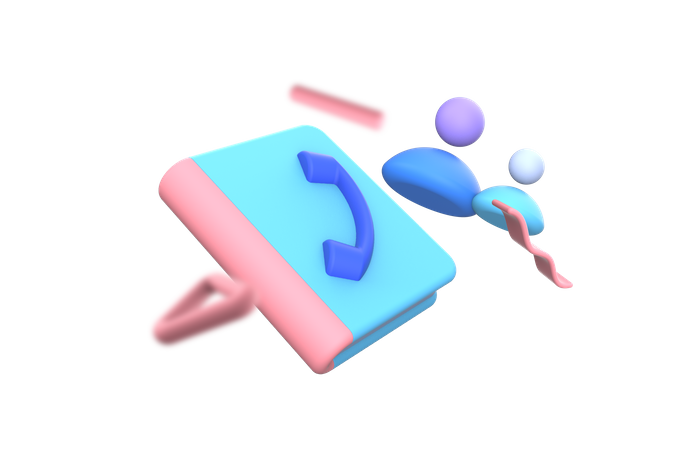 Phonebook 3D Illustration