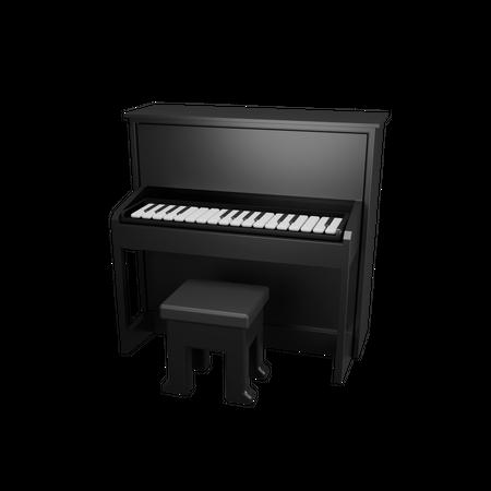 Piano 3D Illustration