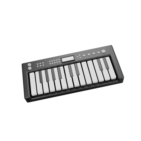Piano Keyboard 3D Illustration