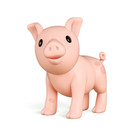 Pig 3D Illustration