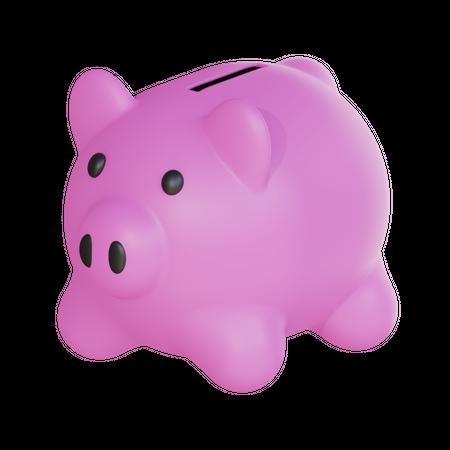 Piggy Savings 3D Illustration