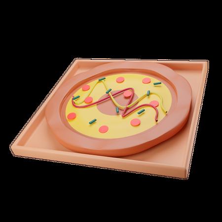 Pizza 3D Illustration