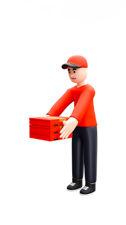 Pizza delivery 3D Illustration