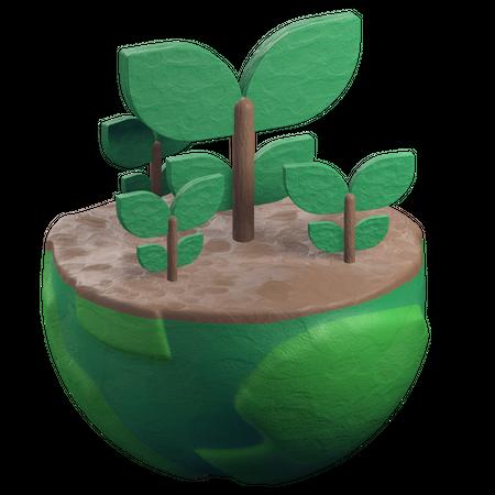 Plant 3D Illustration