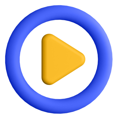 Play Button 3D Illustration
