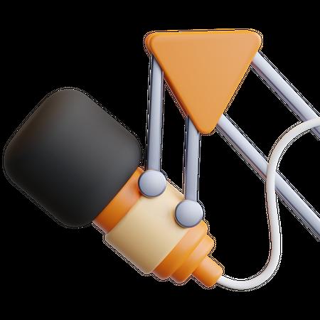 Podcast 3D Illustration