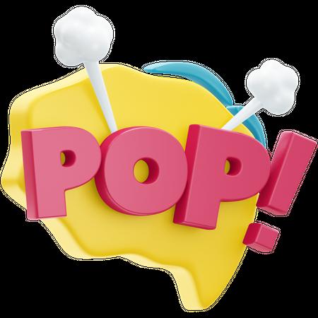 Pop 3D Illustration