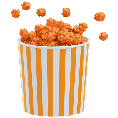Popcorn 3D Illustration