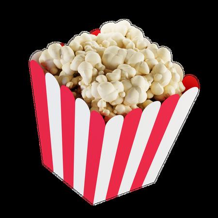 Popcorn Bowl 3D Illustration