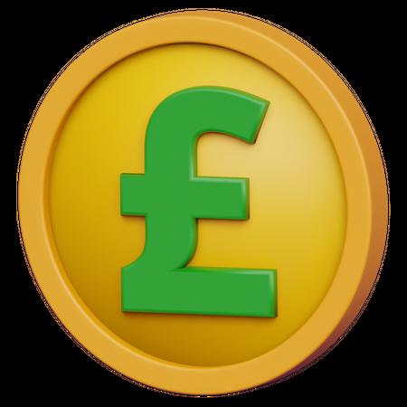 Pound Coin 3D Illustration