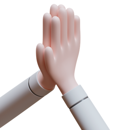 Prayer hand gesture 3D Illustration
